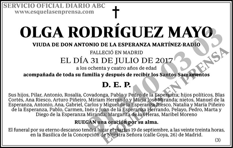 Olga Rodríguez Mayo